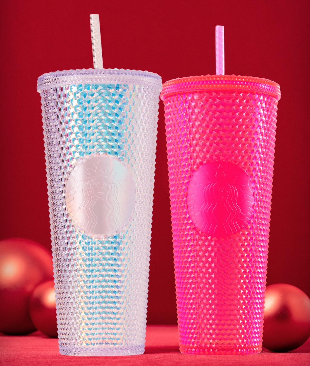 2 Starbucks Iridescent cold cups