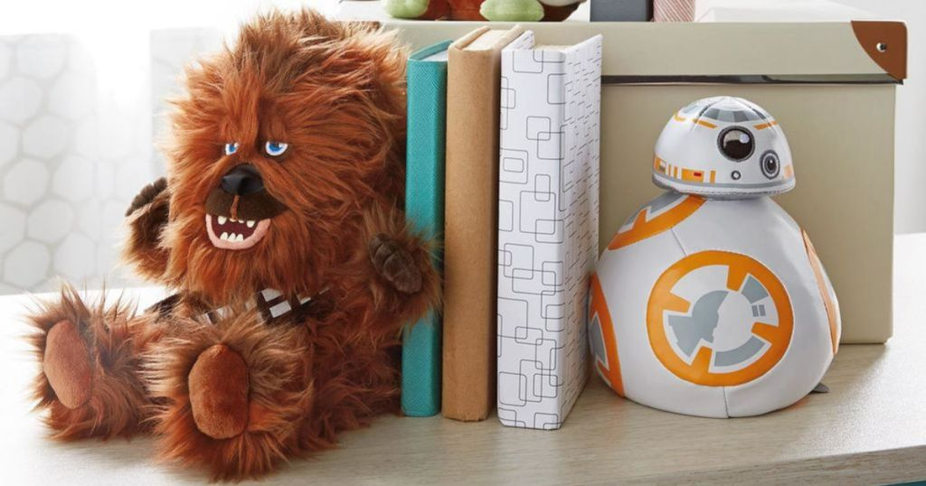 Chewbacca and bb-8 bookends