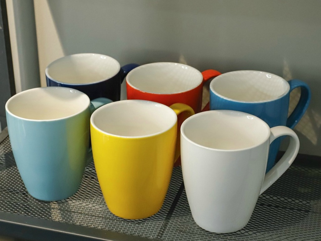 A variety of colors of Sweese Porcelain Mugs