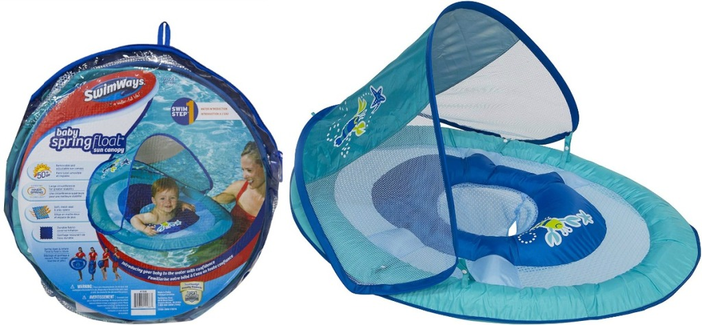 Swimways Baby Float W Sun Canopy Only 7 At Amazon