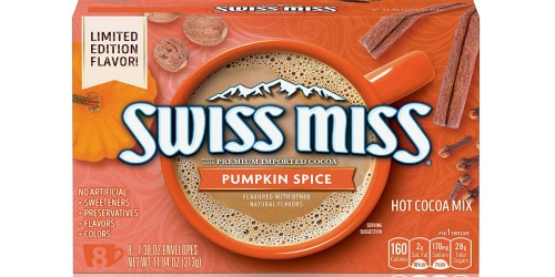 Limited Edition Swiss Miss Pumpkin Spice Hot Cocoa Mix Coming Soon