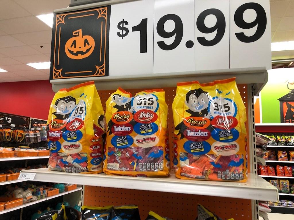 Target Candy Miniatures on shelf