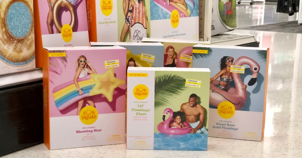 sun squad pool float boxes at target