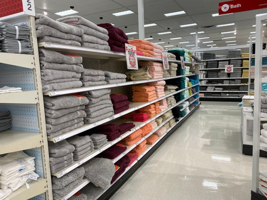 Towel Aisle at Target