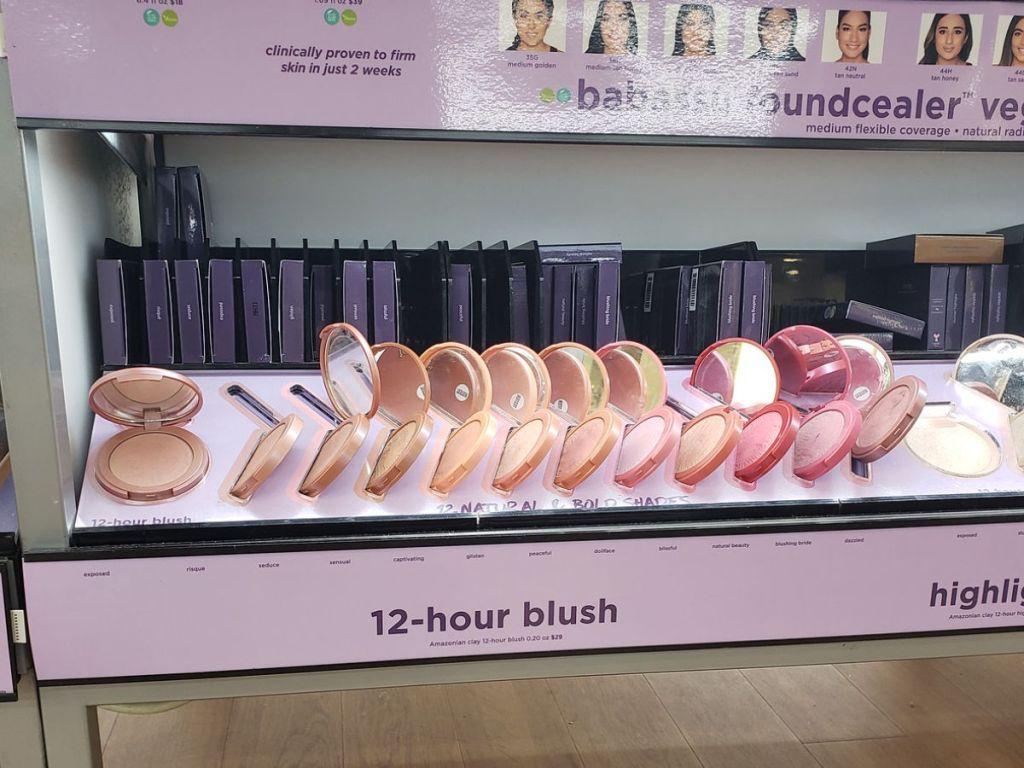 Tarte blush Compact display at ulta