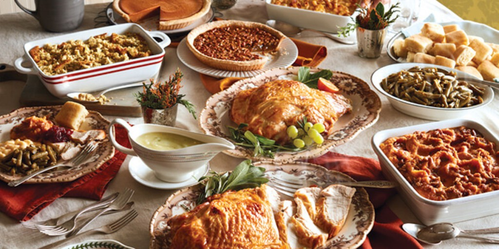 thanksgiving feast on table