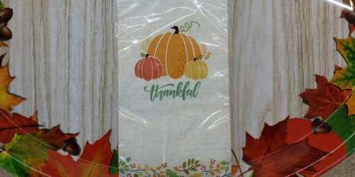 Thanksgiving & Harvest Tableware Only $1 at Dollar Tree