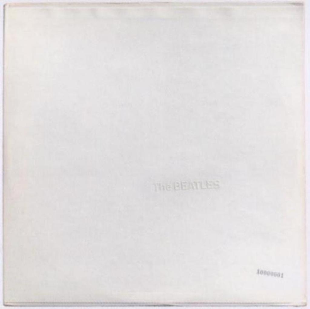 the beatles white album cover