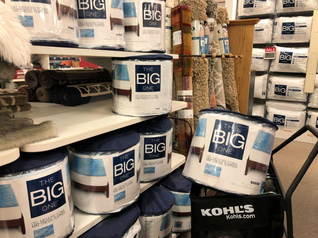 The Big One Gel Memory Foam Toppers on kohls