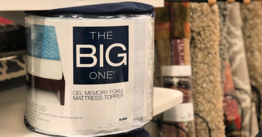 The Big One Gel Memory Foam Toppers at kohl's