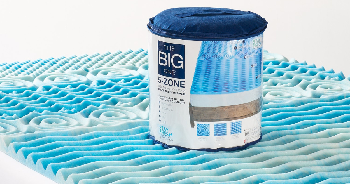 big one gel memory foam topper