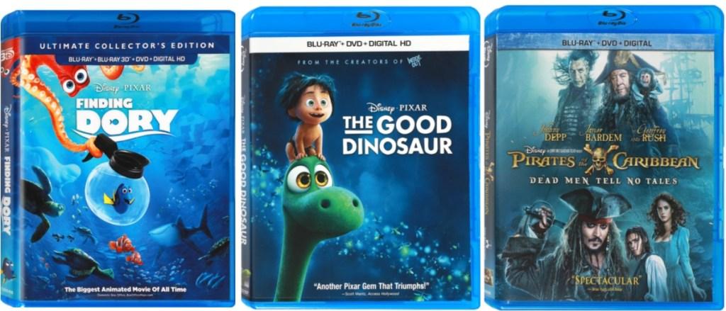 Three Disney Bluray Combo Packs