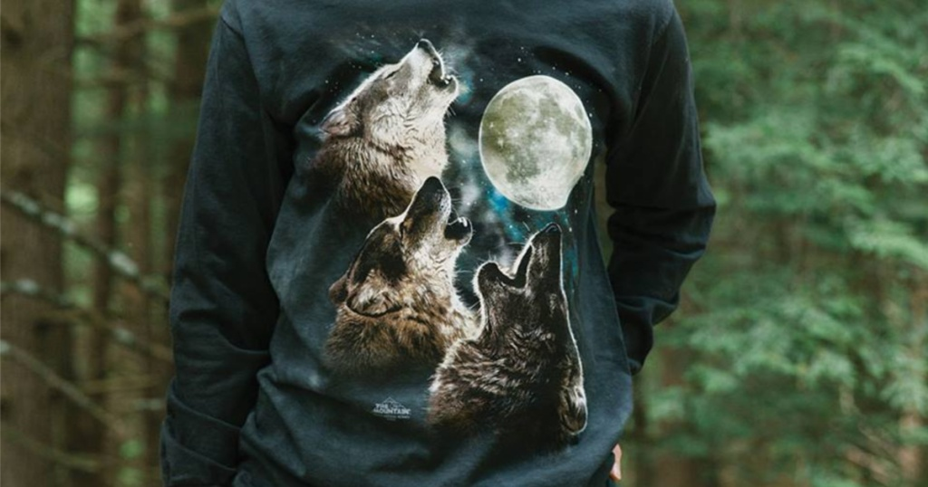 The Mountain Long Sleeve Wolves Tee