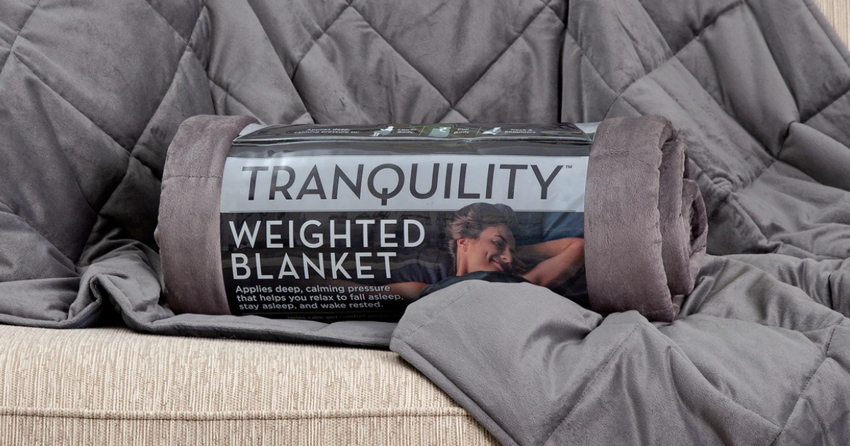 Tranquility Weighted Blanket on couch