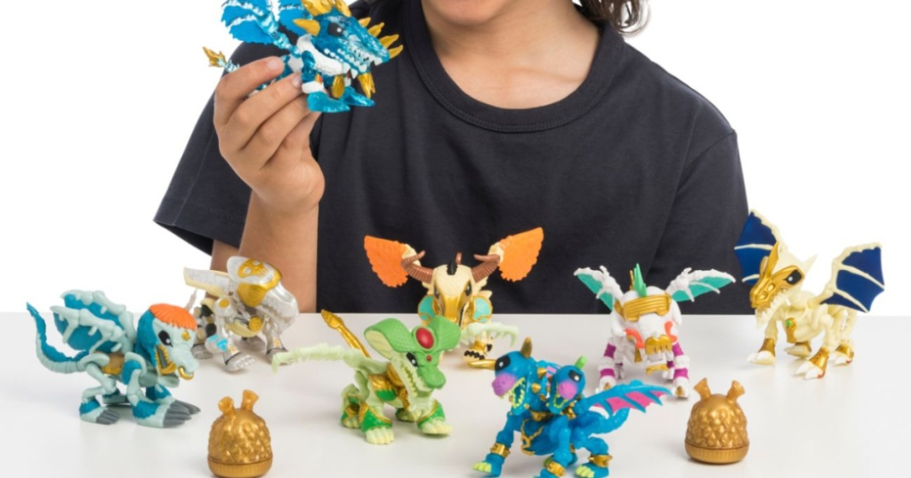 kid playing with treasure x quest set