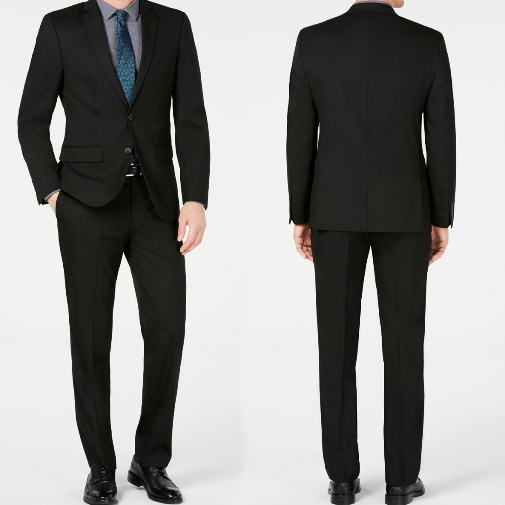 Van Heusen Men's Suit at front and back angle