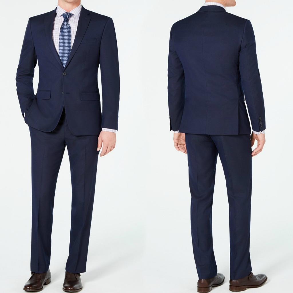 Men's Van Heusen Suit from Macy's- front and back angle