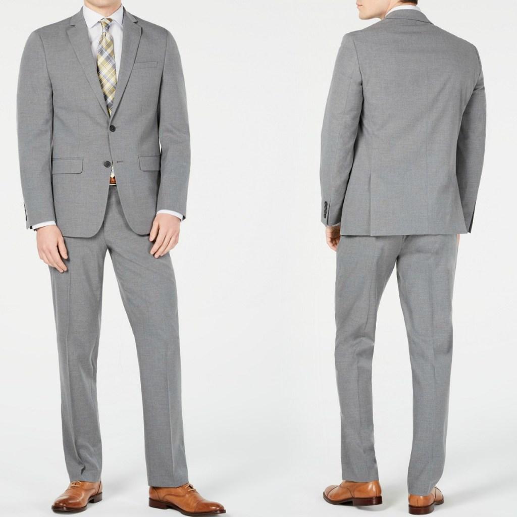 Van Heusen Men's Slim Fit Suit in gray