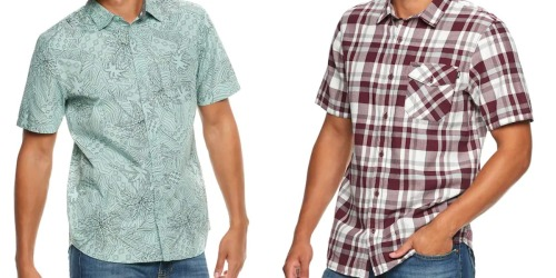 Over 80% Off Vans Men's Shirts + Free Shipping for Kohl's Cardholders