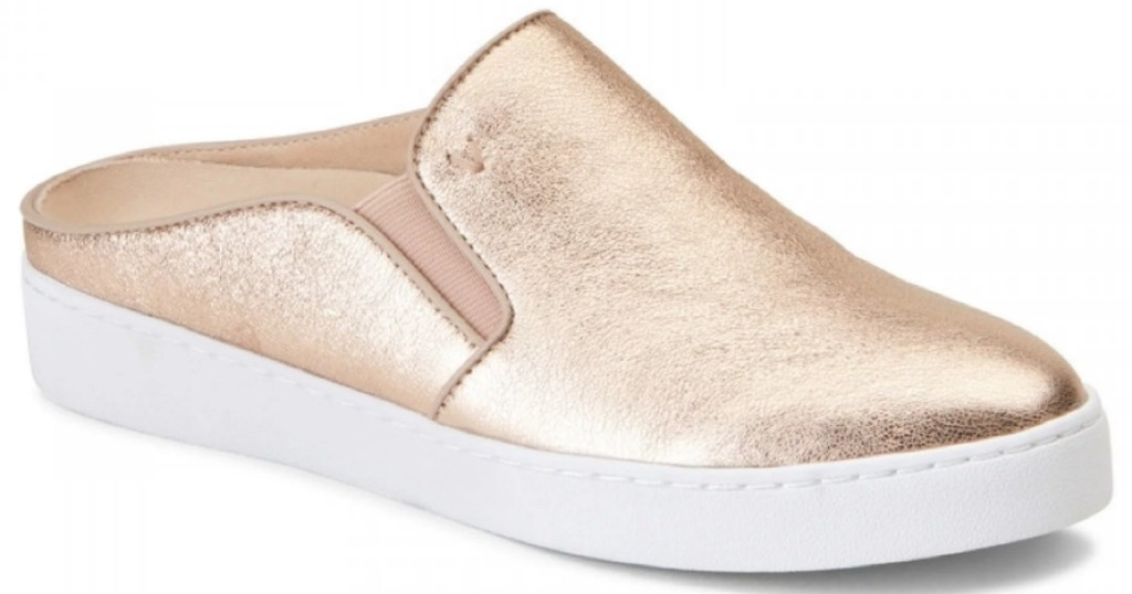 Vionic Women's Leather Mule in gold