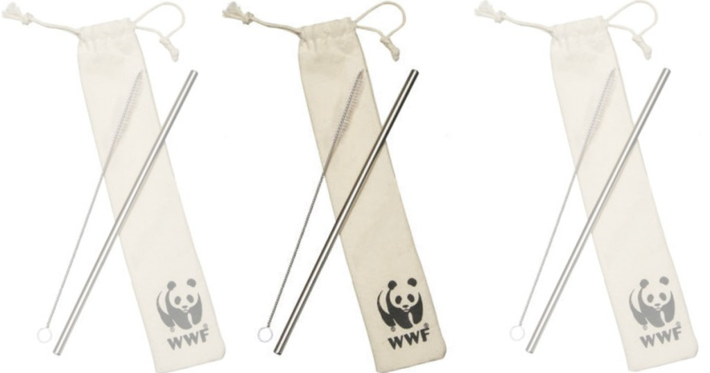 WWF Reusable Straw with bag and brush