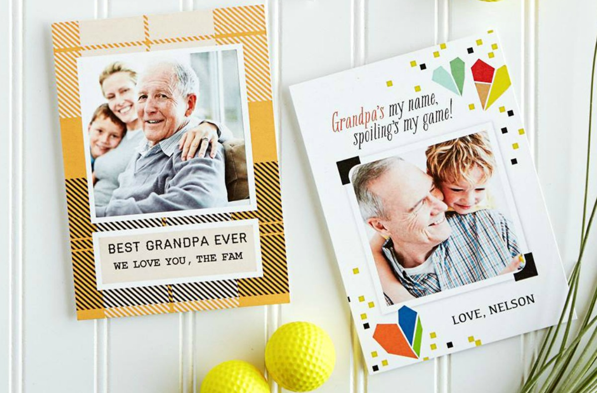 Walgreens premium photo cards for grandpa