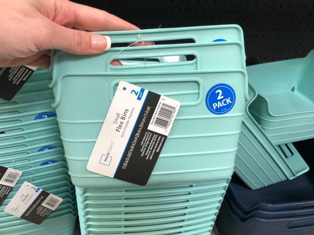 Walmart Small Flex Bins