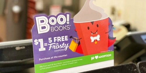 Wendy's Halloween Boo! Books Available Now | ONLY $1 for 5 Free Jr Frosty Coupons