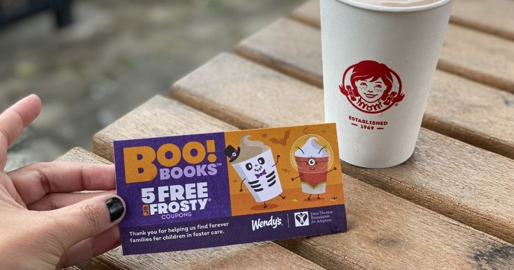 hand holding Wendy's Boo Books