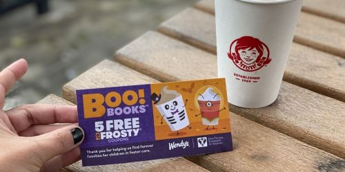Wendy's Halloween Boo! Books Available Now | 5 Free Jr Frosty Coupons ONLY $1
