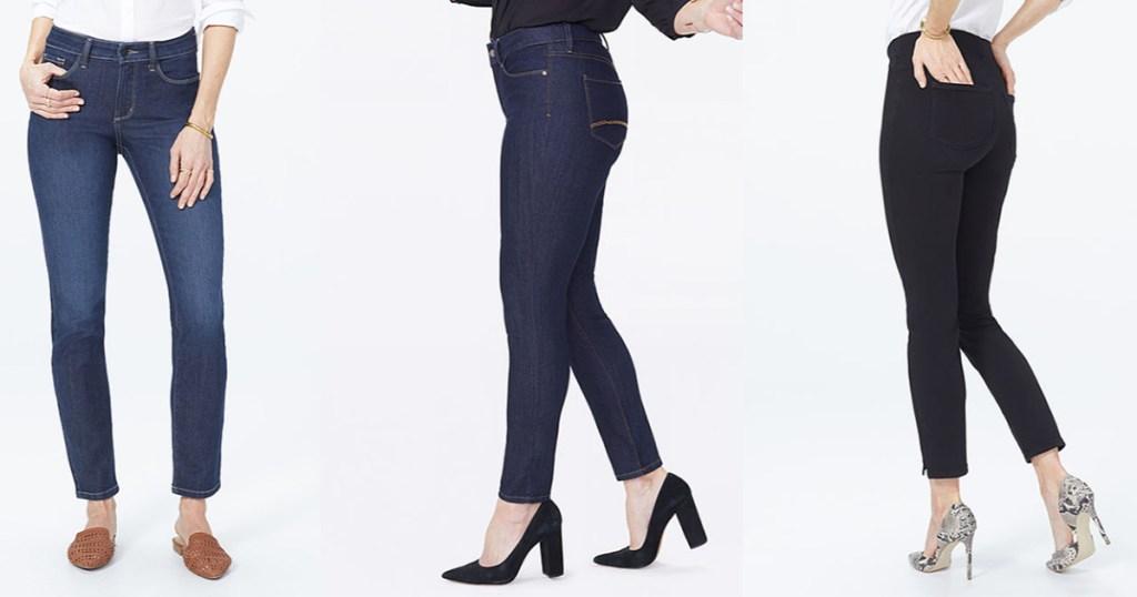 3 women wearing nydj jeans