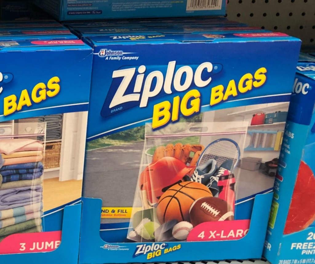 Ziploc Big Bags 4-pack in package on display in store