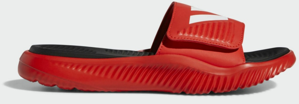 adidas brand red slide sandal for men