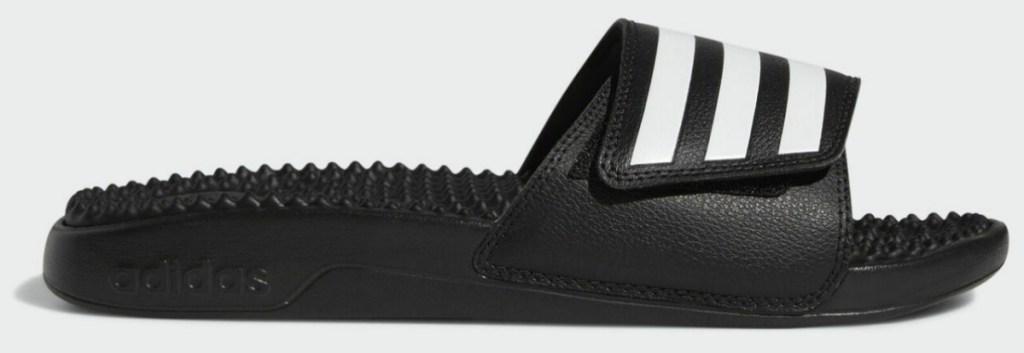 adidas slides for men in black with white stripes