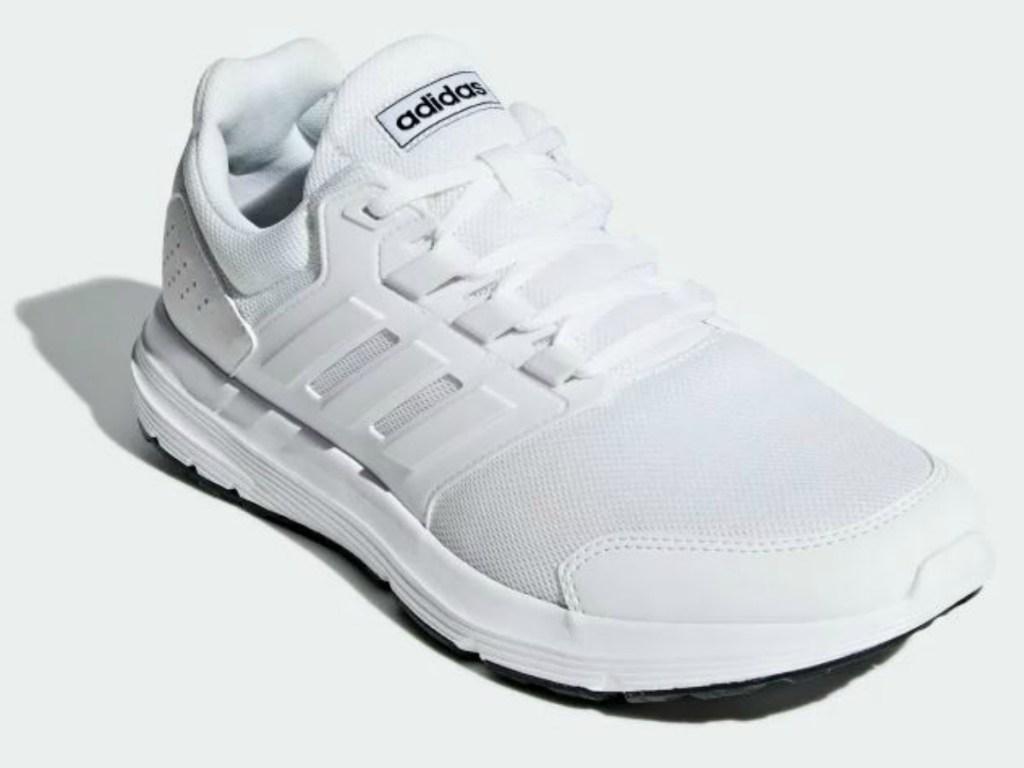white shoes on white background