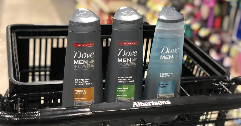 Dove Men Care in cart at Albertsons