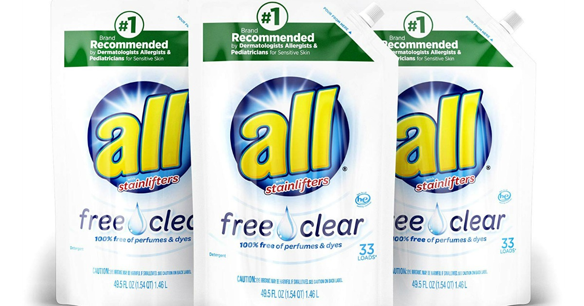 all liquid laundry detergent pouches