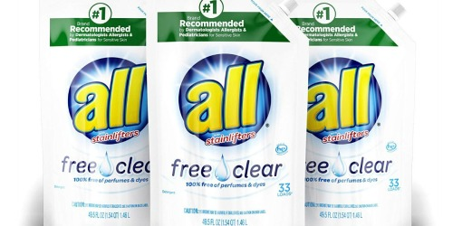 All Liquid Laundry Detergent Pouch 3-Pack Just $9.94 Shipped at Amazon | Only 10¢ Per Load