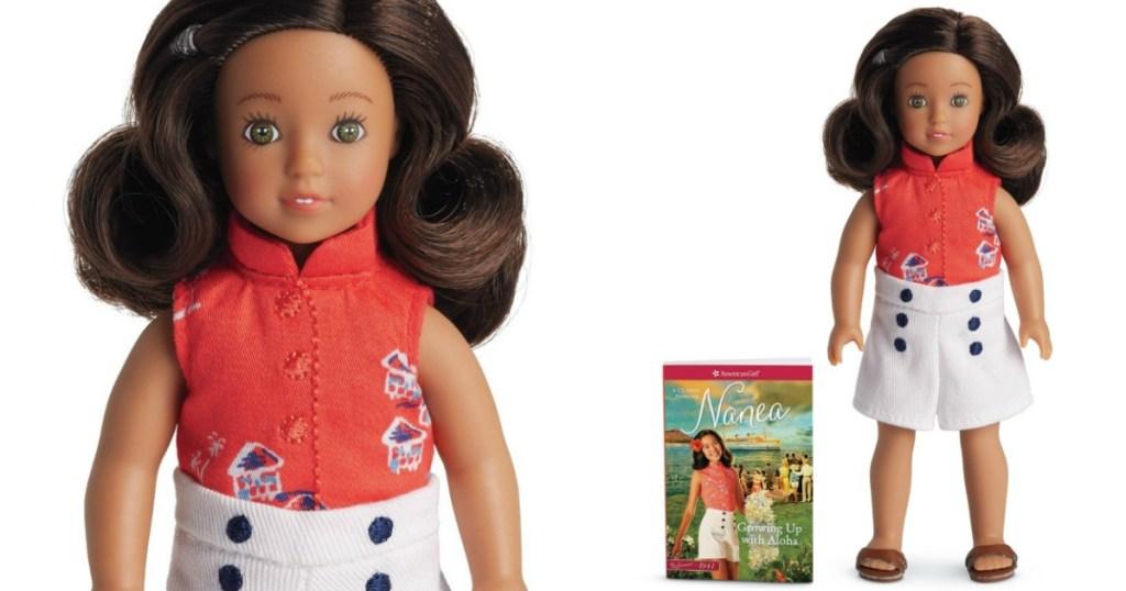 american girl nanae mini doll and book