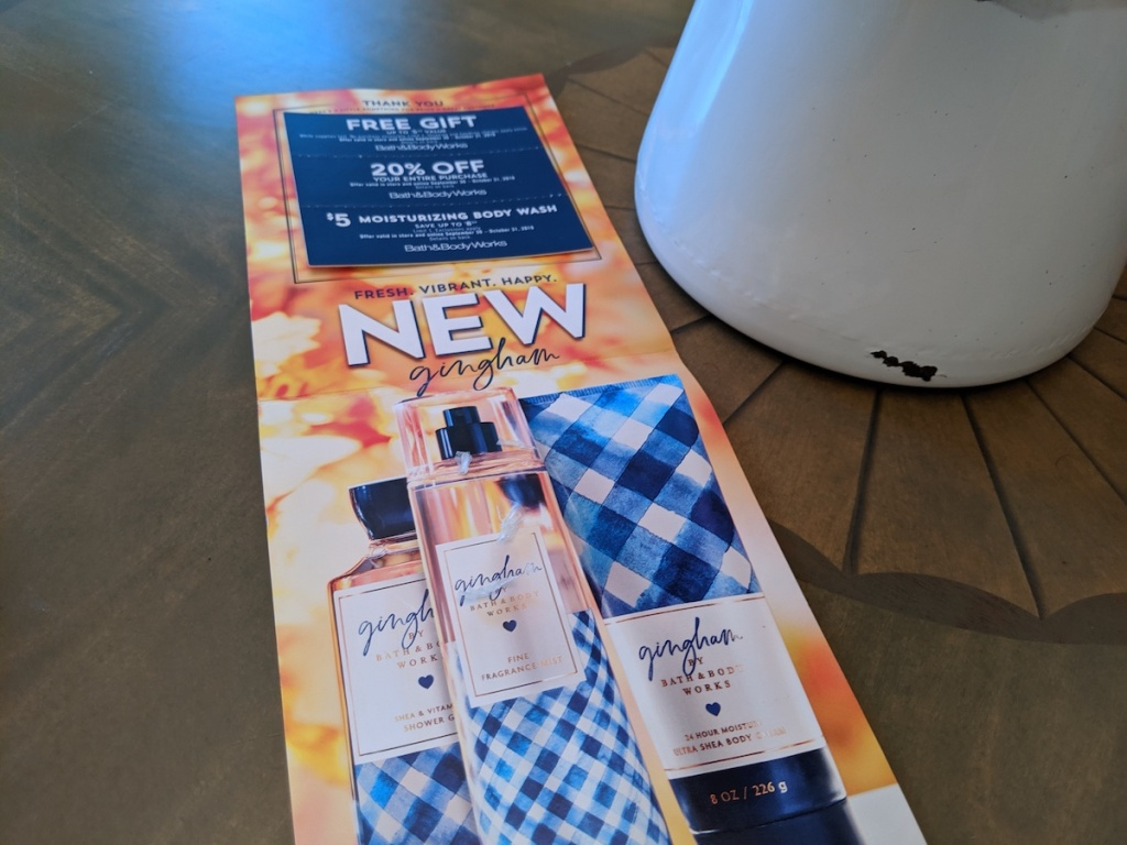 Bath & Body Works Mailer Coupons