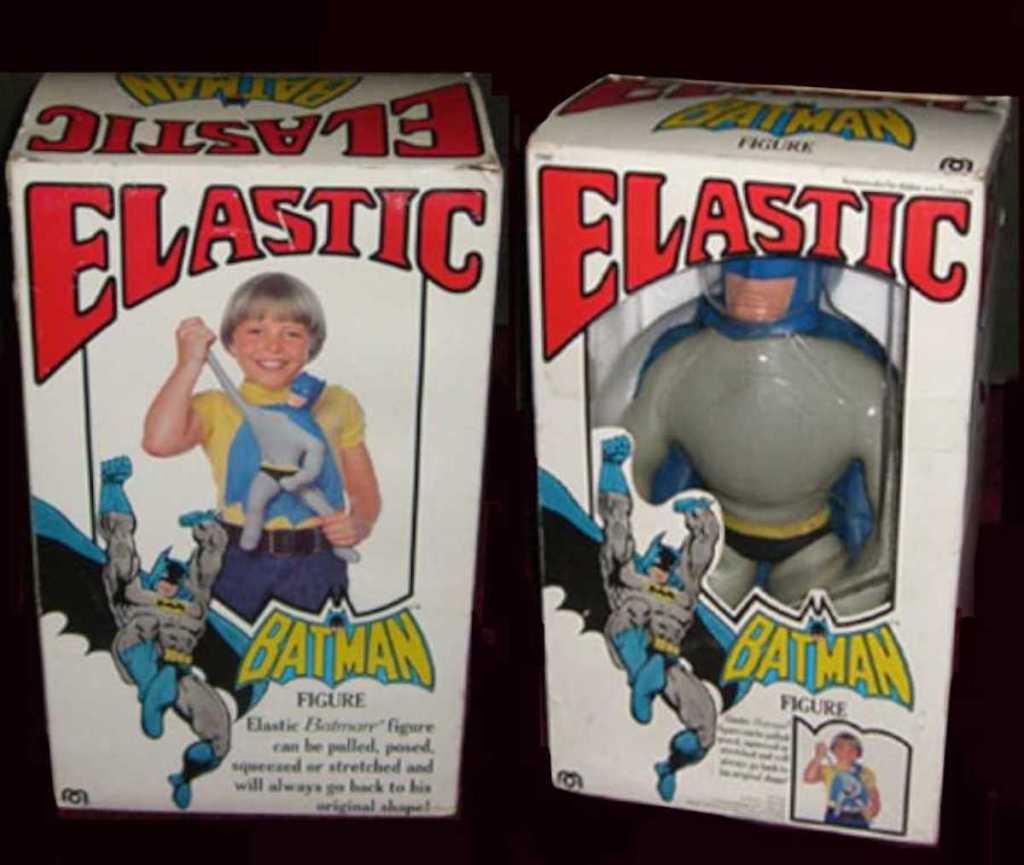 elastic batman toy in box