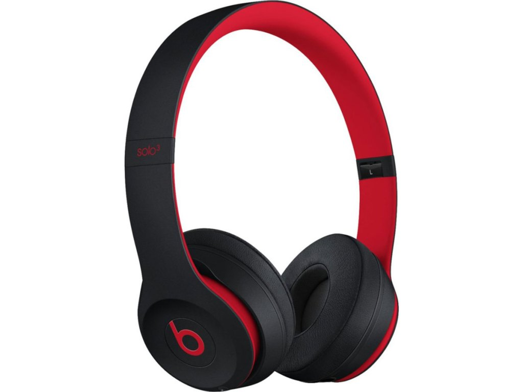 Beats by Dr. Dre Solo 3 Wireless headphones red and black defiant
