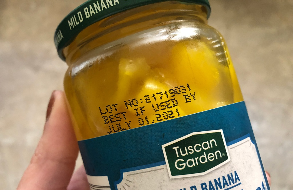 best if used by label on peppers jar