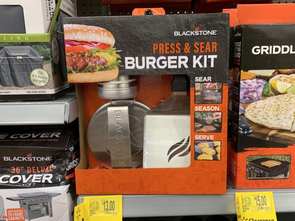 blackstone press and sear burger kit