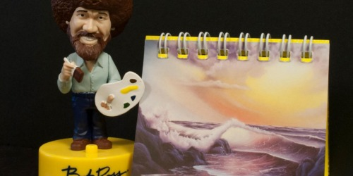 Bob Ross Talking Bobblehead & Mini Easel Book Only $4.79 (Regularly $13)