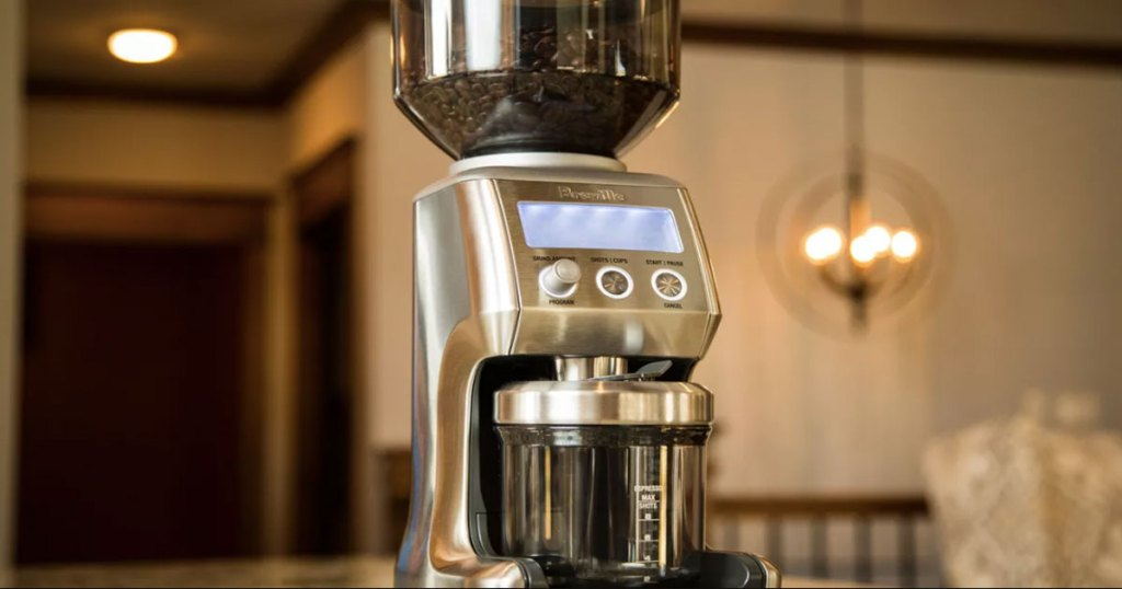 breville smart pro stainless steel coffee grinder