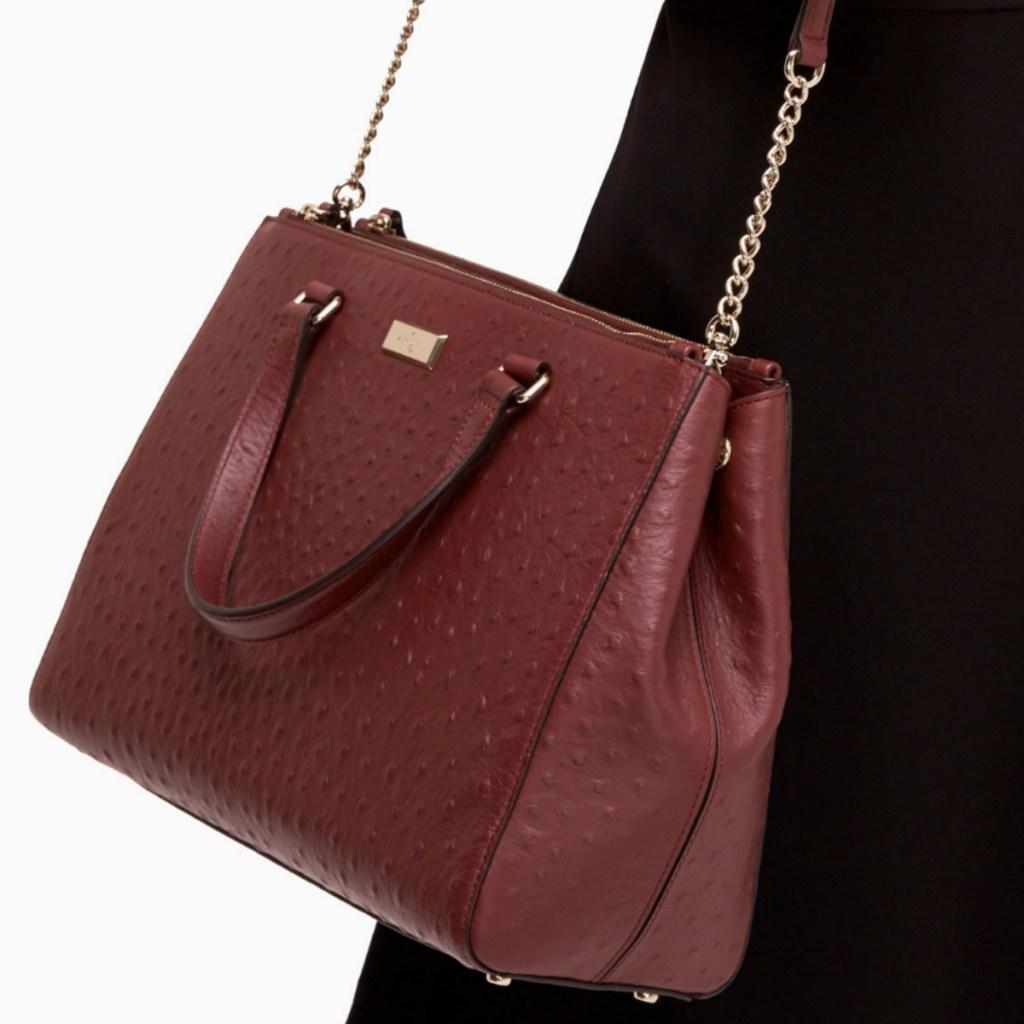 Kate spade handbag in burgundy color
