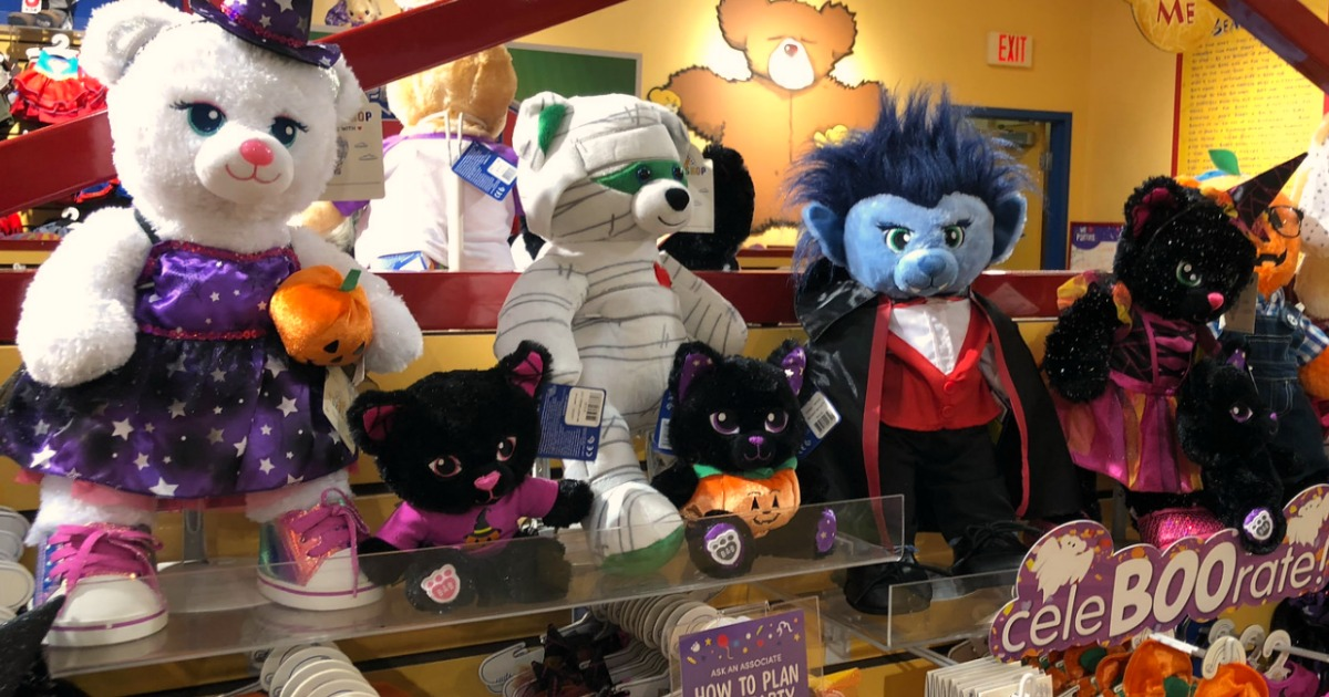 Build A Bear Halloween 2020 Build A Bear Halloween Buddies as Low as $7, Accessories as Low as
