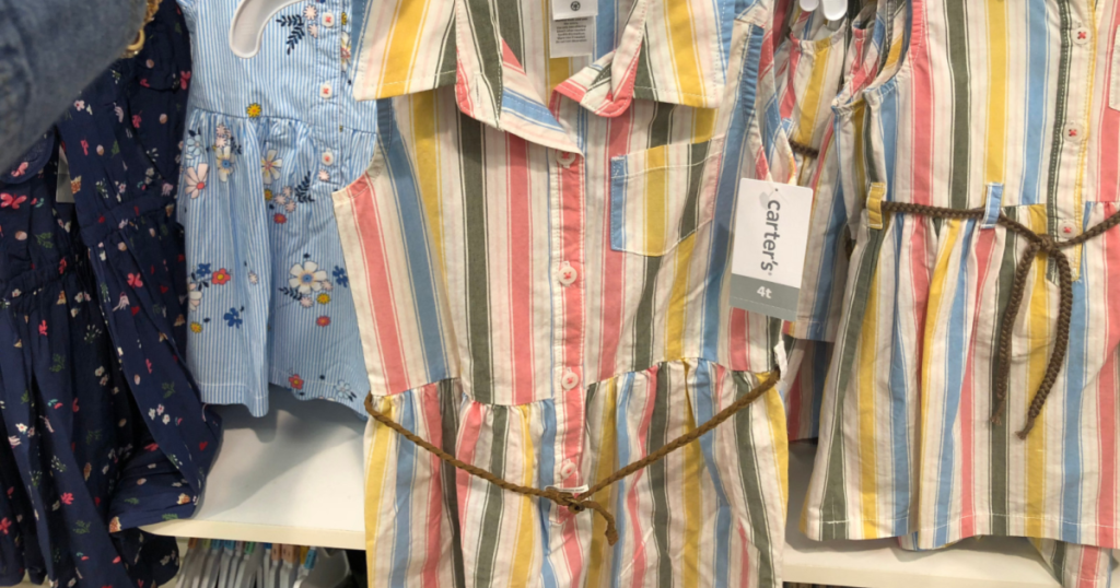 carters striped dress in store