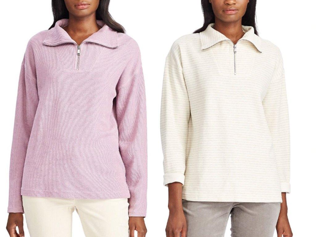 woman's chaps sweatshirt